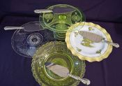 Vintage Pie/Cake Stands & Sterling Silver Servers