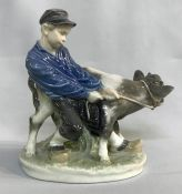 "Vintage Royal Copenhagen figurine ""Boy With Calf"""