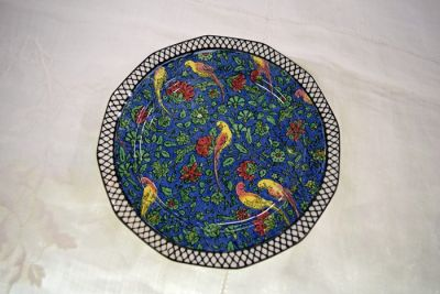 Vintage Royal Doulton Persian Parrot Blue Chintz Pattern D4031 Plate