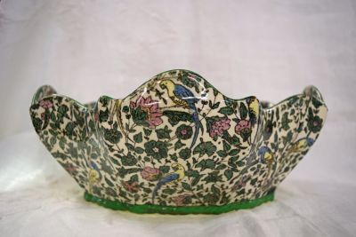 Vintage Royal Doulton Persian Parrot Chintz Pattern D3550 Serving Bowl  As Found