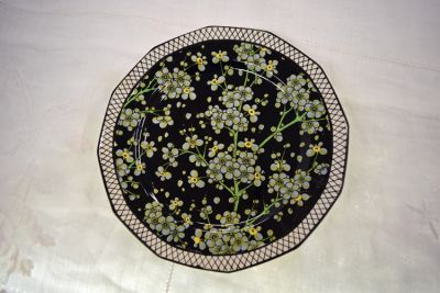Vintage Royal Doulton Prunus Pattern D3832 Twelve Sided Plate 1
