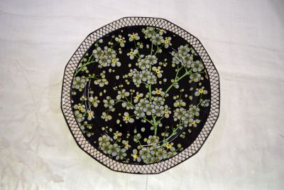Vintage Royal Doulton Prunus Pattern D3832 Twelve Sided Plate 2