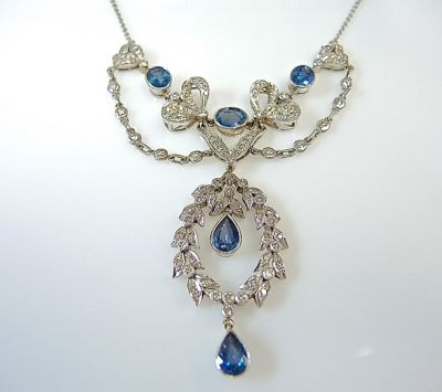 Vintage Sapphire and Diamond Necklace CFA1403261