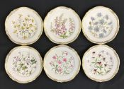 "Vintage Spode ""Wild Flowers"" Hand Painted Luncheon Plates"