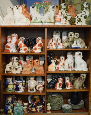 Vintage Staffordshire Dogs and Character Jugs -1