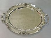 Vintage Sterling Silver Hand Chased Tray