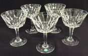 Vintage Stuart Crystal Champagne Glasses In The Dartmouth Pattern
