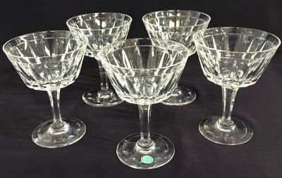 Vintage Stuart Crystal Champagne Glasses In The Dartmouth Pattern 2