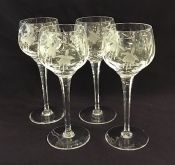 Vintage Stuart Crystal Hock Wine Glasses