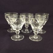 Vintage Stuart Crystal Sherry Glasses