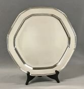 Vintage Tiffany & Co Sterling Silver Hexagonal Salver