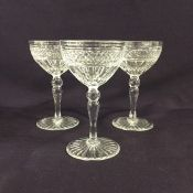 Vintage Webb Corbett Crystal Sherry Glasses