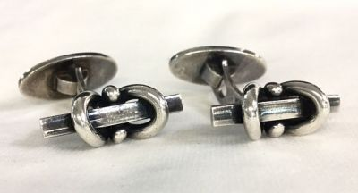 Vintage Willy Jacob Krogmar Sterling Silver Cufflinks 2