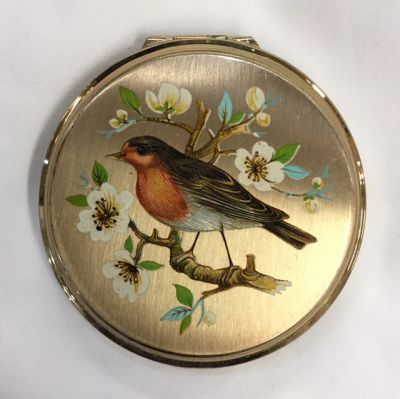 Vintage hand painted compact