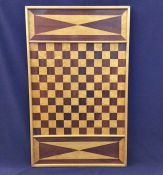 Vintage Mahogany & Curly Maple Games Board