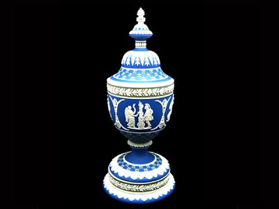 Wedgwood Jasperware Urn with Cover  JW001 1 REVISED