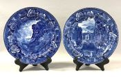 Wedgwood  Blue and White Transfer Ware Plates, Circa 1900