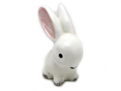 White Bunny Figurine 1 Cynthia Findlay Antiques