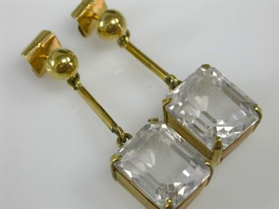 White Topaz Earrings CFA1311196