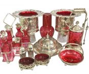 Lovely Antique & Vintage Cranberry Glass