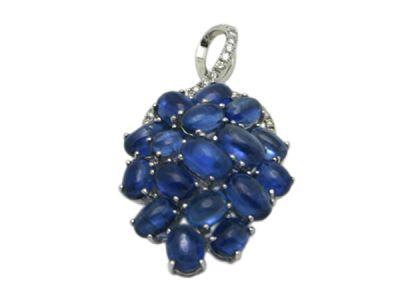 Vintage Sapphire and Diamond Pendant
