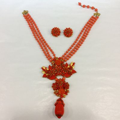 vintage necklace and earring set by Stanley Hagler 1