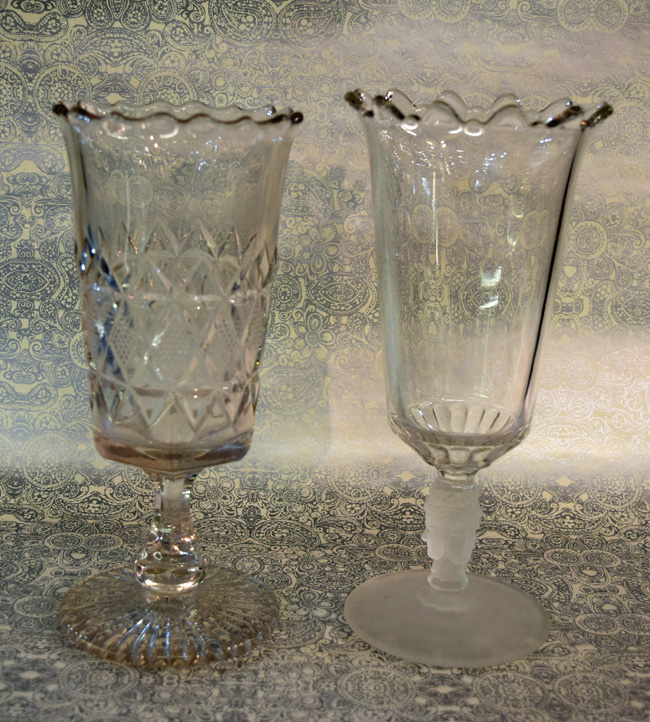 Victorian Cut Glass Celery Vases