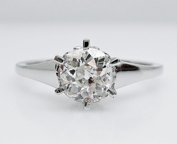 Custom White Gold Diamond Ring