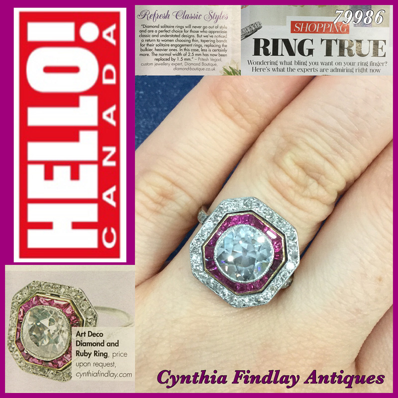 Hello! Canada Magazine -Cynthia-Findlay-Antique-Art-Deco-Ring-Featured