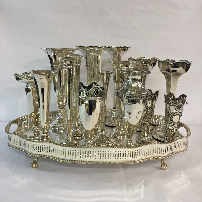 Assorted Silver Vases