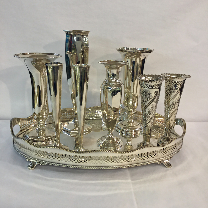 Assorted Silver Vases 3