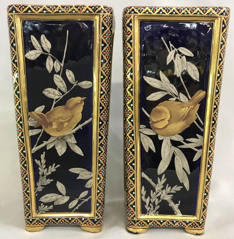 Coalport Aesthetic Movement Mantle Vases