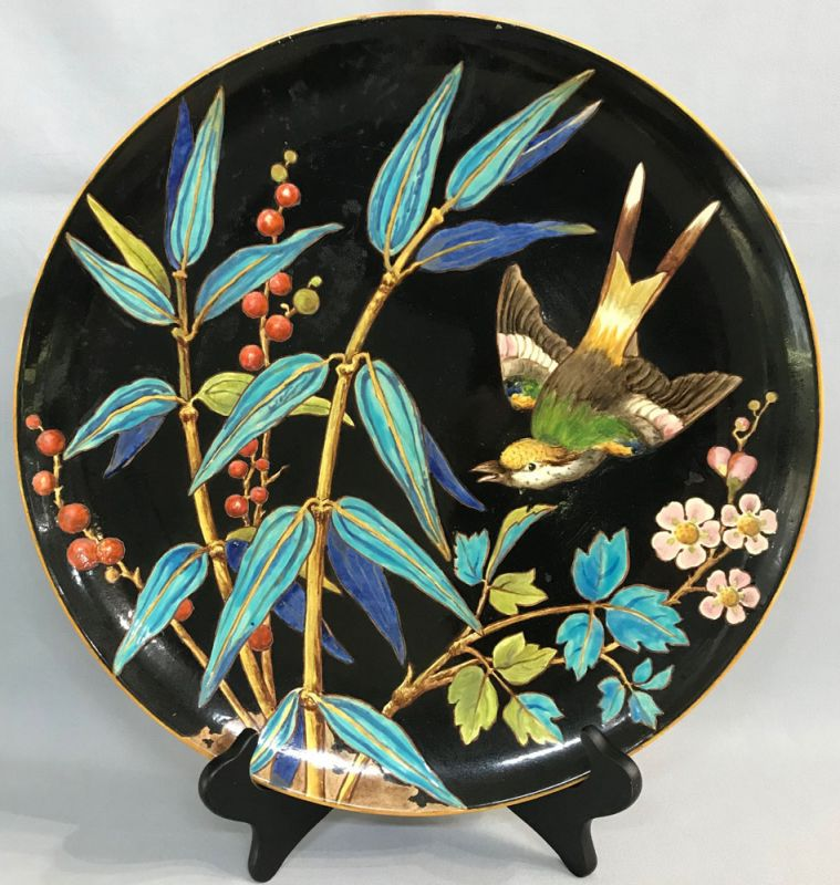 Minton Majolica Aesthetic Movement Charger circa 1871-75