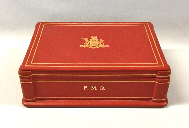The Honourable Frank Mackenzie Ross leather box