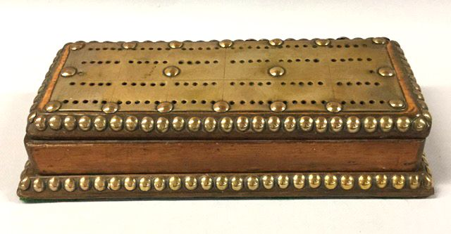 Victorian Cribbage Board and Card Box