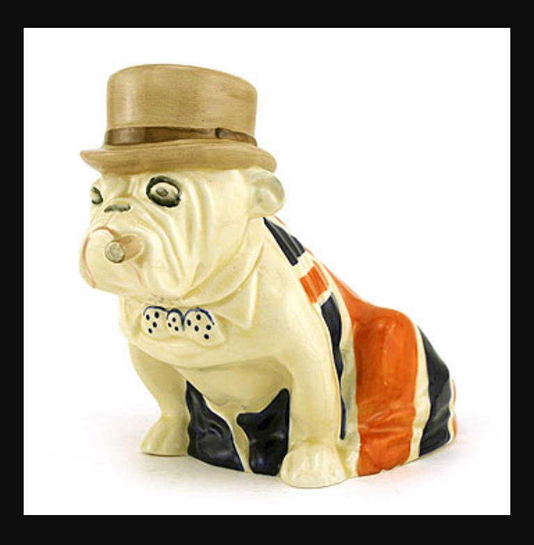 Winston Churchill in Bulldog form by Royal Doulton
