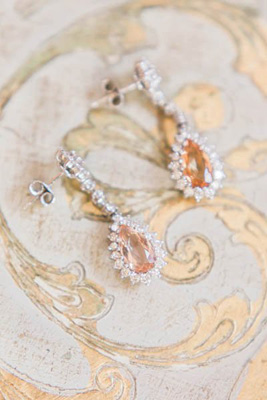 Antique/vintage bridal diamond earrings from Cynthia Findlay