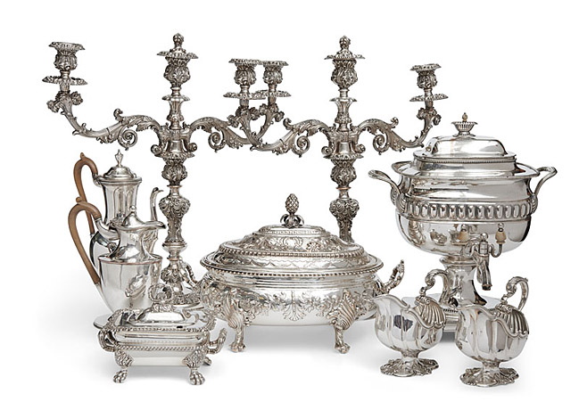 Antiques Toronto - Sterling Silver Display