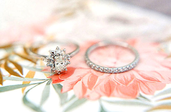 antique and vintage diamond engagement ring and wedding ring set from Cynthia Findlay