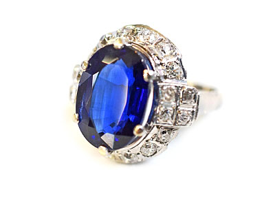 Vintage Sapphire and Diamond Ring at Cynthia Findlay Fine Jewellery and Antiques Store Online In Toronto