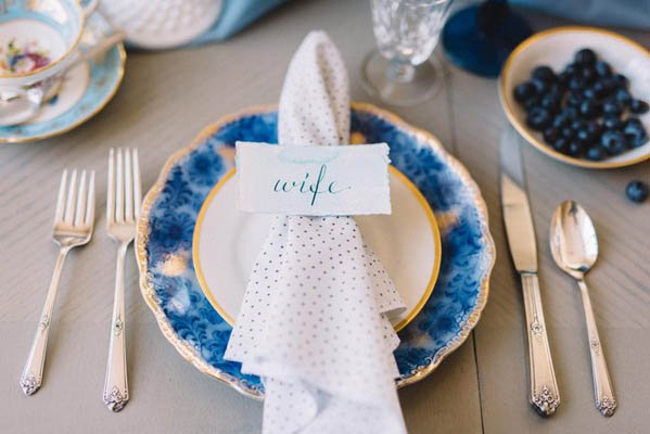 antique and vintage bridal/wedding place setting toronto