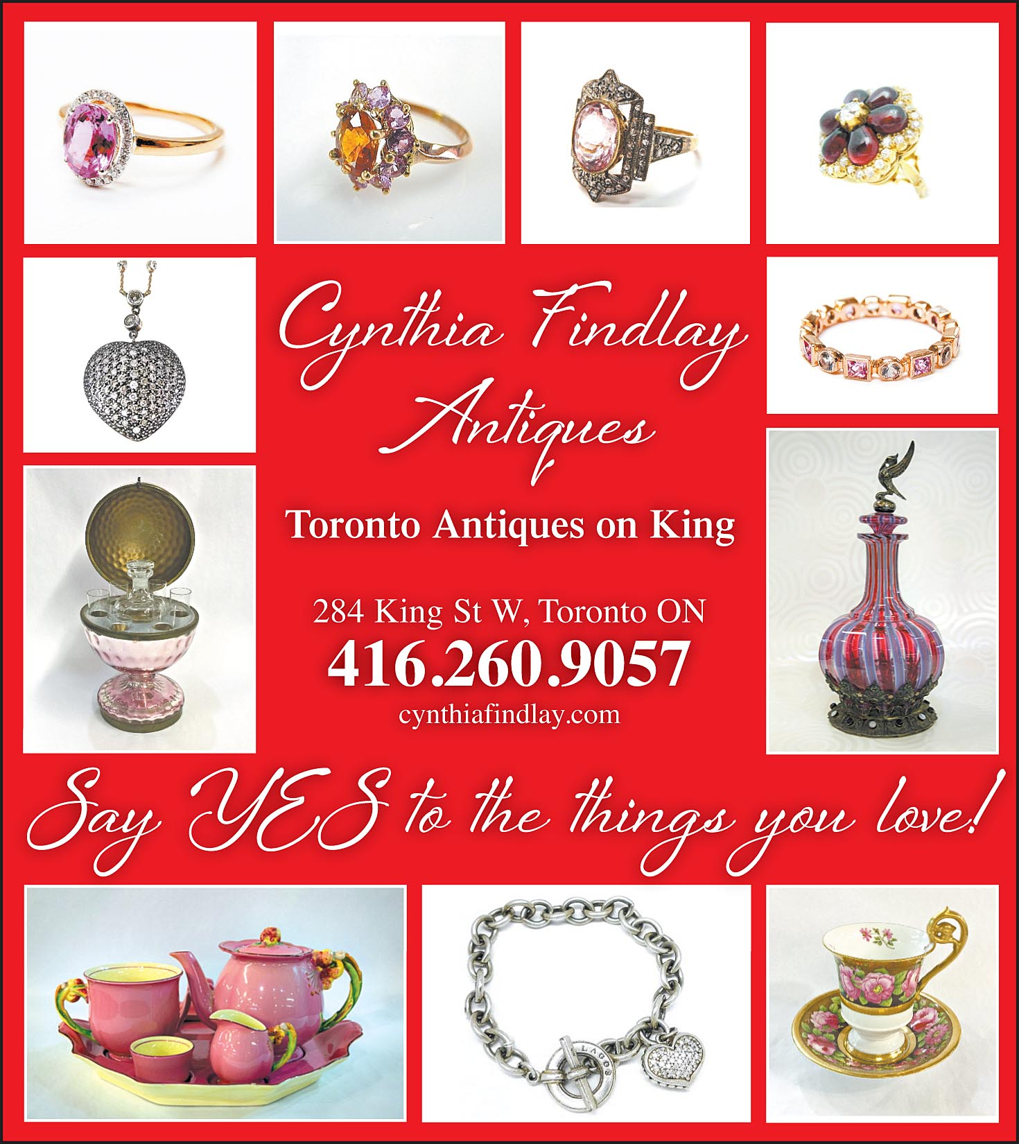 Toronto Life Antique Vintage Valentines Jewellery & Decor Ad