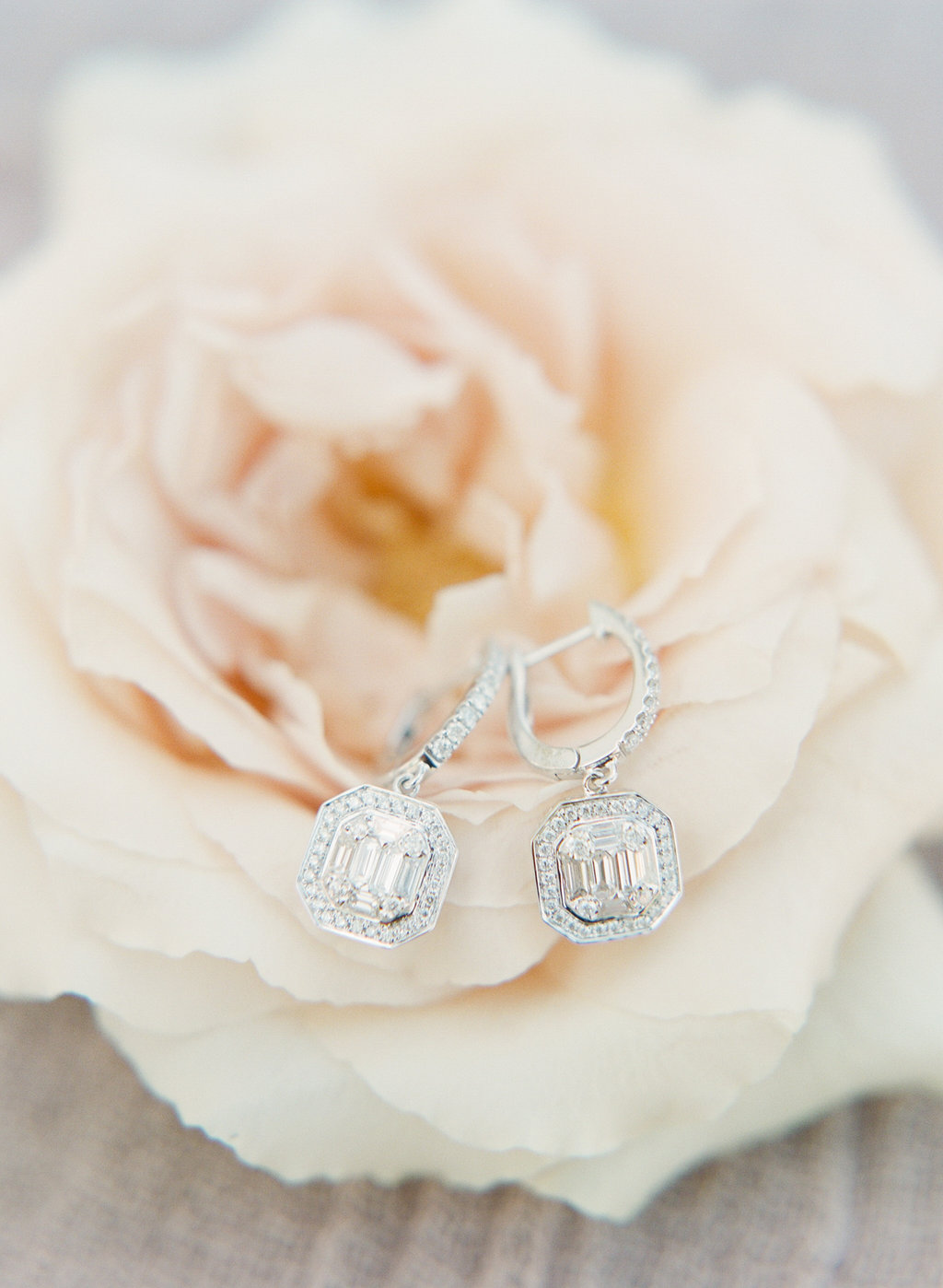 antique vintage diamond bridal earrings