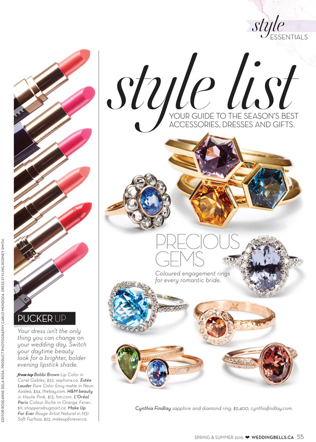 Wedding Bells Style ESSENTIALS Summer 2016 Featuring Cynthia Findaly Vintage Engagement Ring