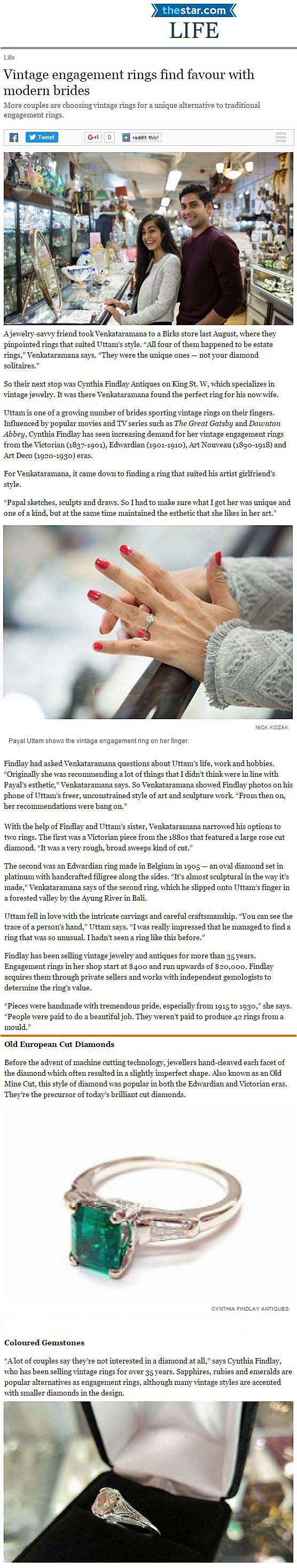 Toronto-Star-Cynthia-Findlay-Antiques-Vintage-Engagement-Rings-Find-Favour-With-Modern-Brides
