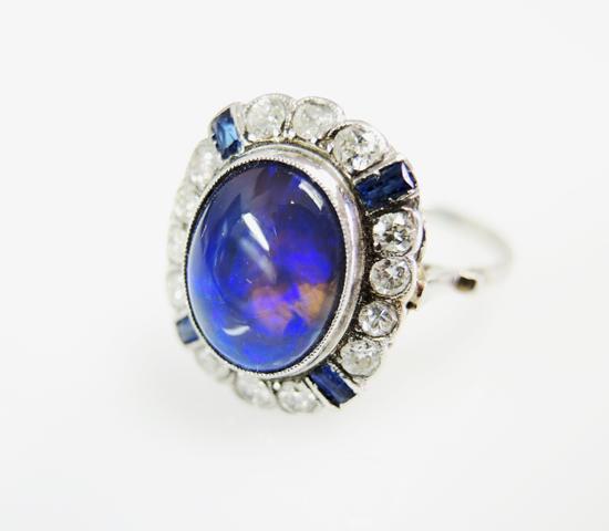 Art_Deco_Opal_Diamond_Sapphire_Ring