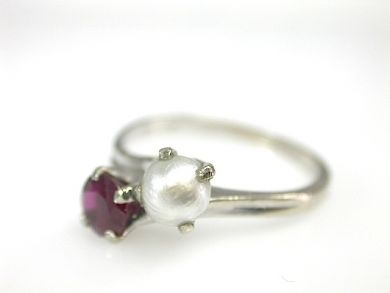 Ruby and Pearl Edwardian Ring C. 1915