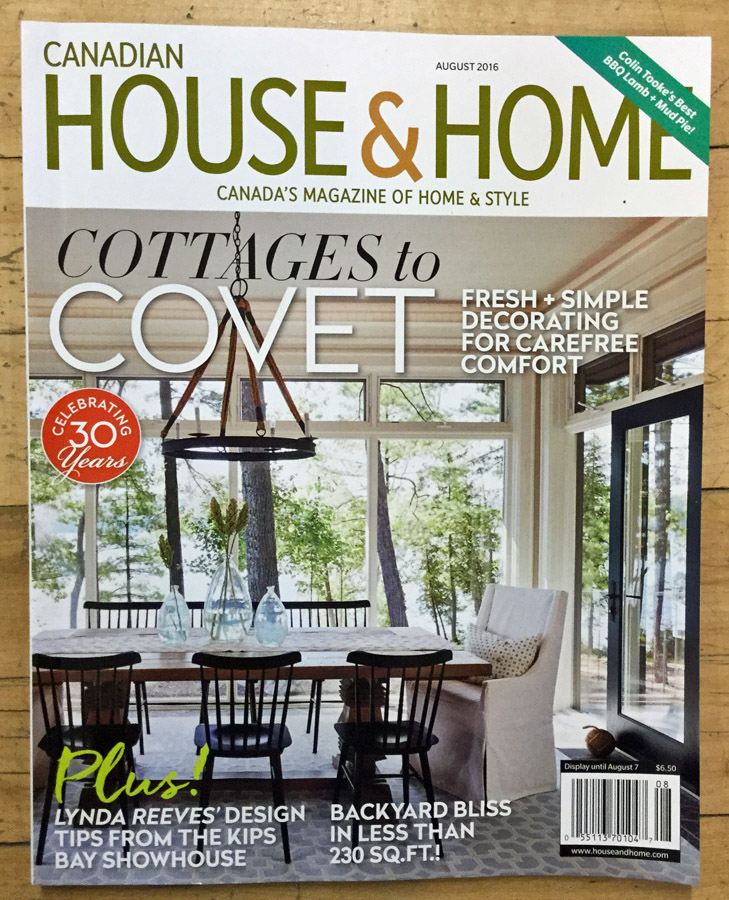 House and Home August 2016 Cynthia Findlay Antiques Props